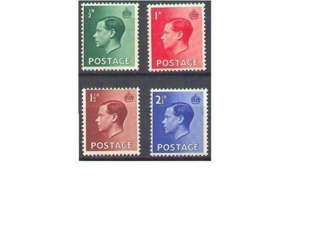 Great Britain 1936 KING EDWARD VIII Unhinged Mint SG 457-460