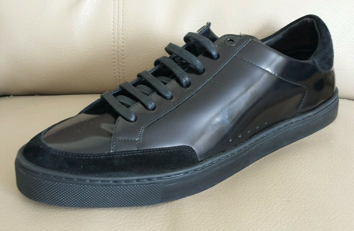 Burberry Sneaker Men Leather Gorgeous Black Select Size