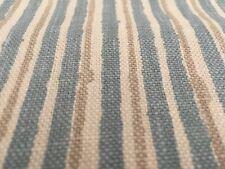 Brunschwig & Fils Printed Stripe Upholstery Fabric- Pique Nique Aqua Tan 1.55 yd