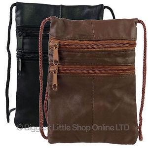 Soft-Nappa-Leather-Shoulder-Neck-Purse-Bag-3-Zips