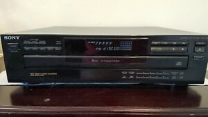 Sony-CDP-C245-CD-Player-5-Disc-Carousel-Ex-Change-System-TESTED-WORKS-No-Remote