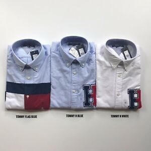 NWT-Tommy-Hilfiger-Men-039-s-All-Cotton-Oxford-Botton-Down-Long-Sleeve-Causal-Shirt