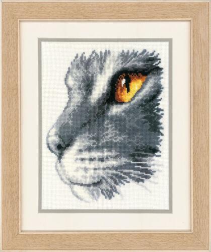 2002 \ 70.166 Vervaco-contati Punto Croce Kit-Majestic Cat