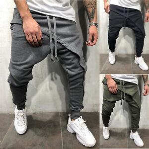 Men-039-s-Jogger-Jogging-Sports-Hip-Hop-Harem-Pants-Long-Casual-Trousers-Slim-Fit