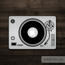 DJ Turntable - Mac Apple Logo Laptop Vinyl Decal Sticker Macbook Music Record