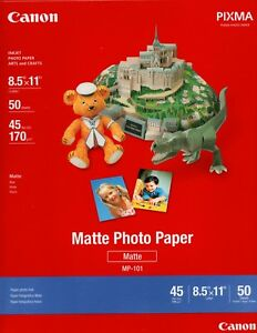 Canon-8-5-034-x-11-034-Matte-Photo-Paper-MP-101-50-Sheets-NIP