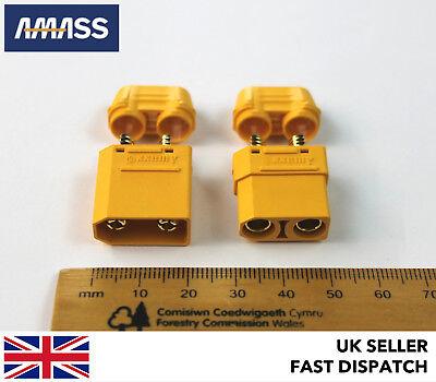 AMASS XT90+ FEMALE Connectors//Plugs GENUINE BATTERY SIDE - XT90H inc Caps