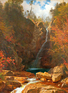 Glen-Ellis-Falls-A1-by-Albert-Bierstadt-High-Quality-Canvas-Print