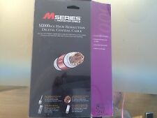 Monster Cable M Series M1000DCX High Resolution Digital Coaxical Cable 8FT/ NIB