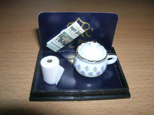1.337//8 Reutter porcelana orinal//Camper pot set muñecas Tube 1:12 Art