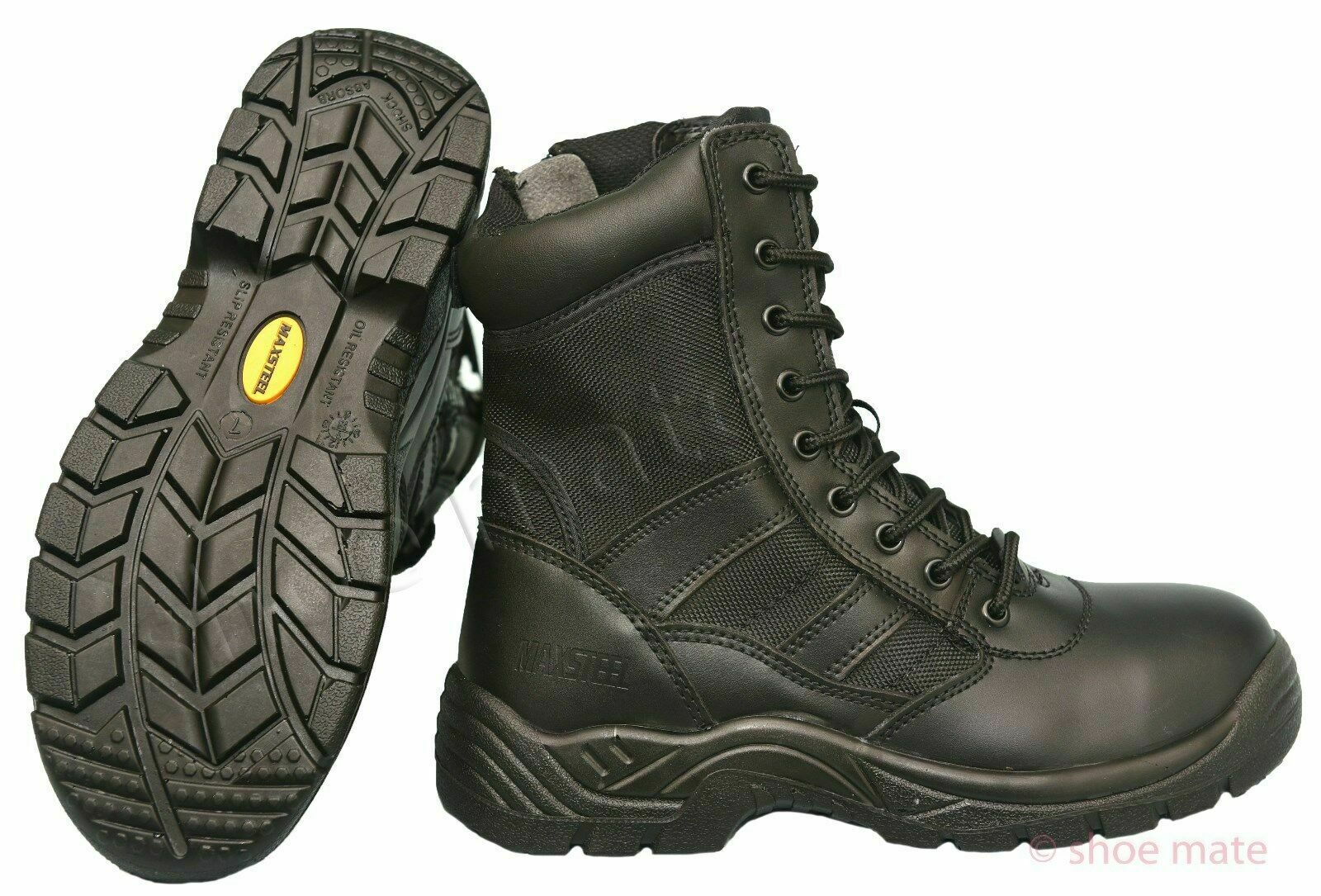 New Mens Non Safety Lightweight Police Army Tactical Military Work Boots Shoes Z