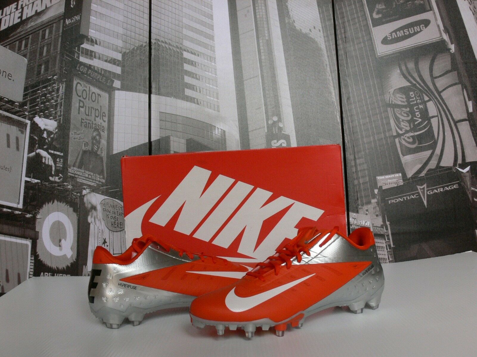 CHROME SILVER ORANGE Nike Vapor Talon Elite LW Cleats US 16   Special limited time