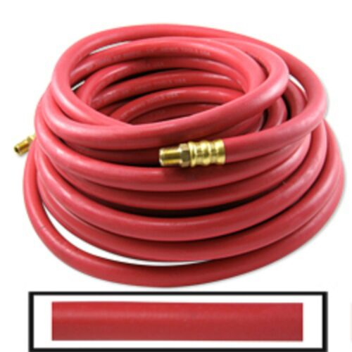 "1//4/"" X 50/' Rubber Air Hose 300//800 PSI All Weather Oil Abrasion Resistant Auto"