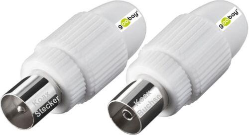 Antennes connecteur prise /& coaxial inserer montage koaxstecker /& koaxbuchse nouveau connecteur