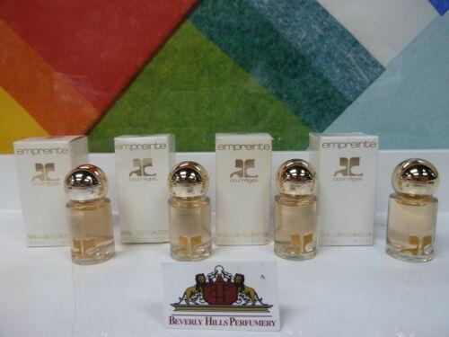 Vintage Menge Von 4 Miniatur Empreinte Von COURREGES EDT Splash 5ml/5 ML Neu  GyGdq Cyx0I