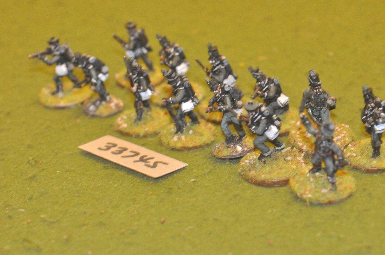 25mm napoleonic   british - rifles (part plastic) 13 figures - inf (33745)