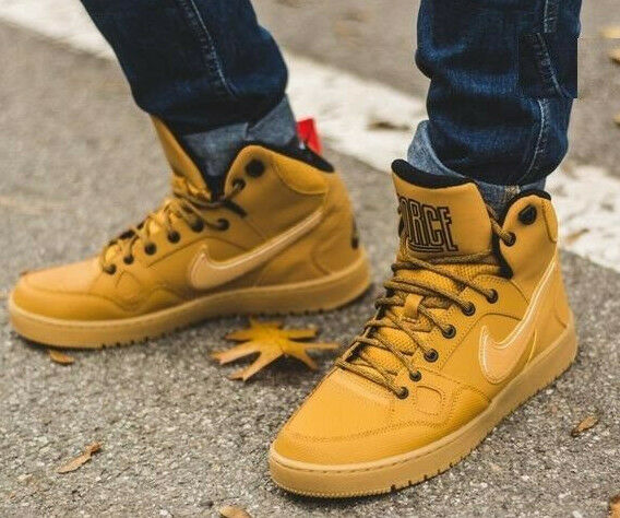 100333daacb Nike Son of Force Mid Winter Shoes Retro High Top Trainers Wheat Air  807242-770 UK 7 5 for sale online