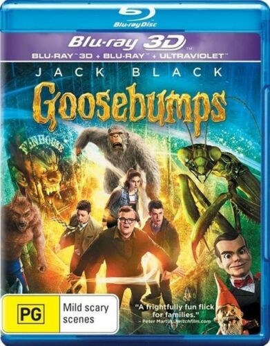 1 of 1 - Goosebumps 3D (Blu-ray, 2016, 2-Disc Set) New, ExRetail Stock (D134)