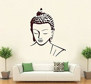 Asmi-Collections-PVC-Wall-Stickers-Beautiful-Brown-God-Buddha