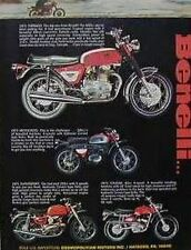 1971 BENELLI Motorcycle Ad Features Cougar Tornado Motocross And  Supersport