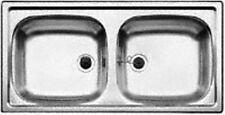 *BLANCO* Spüle Einbauspüle Edelstahl-Spüle Küchenspüle Doppelbecken 86x43,5 cm