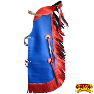 Hilason Pro Rodeo Bull Riding Chaps Leatther Kids Junior Youth U-869Y