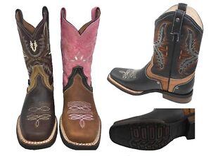 35d7d39703 Women s Western Square Toe Cowgirl Boot Brown Bota De Dama Vaquera ...