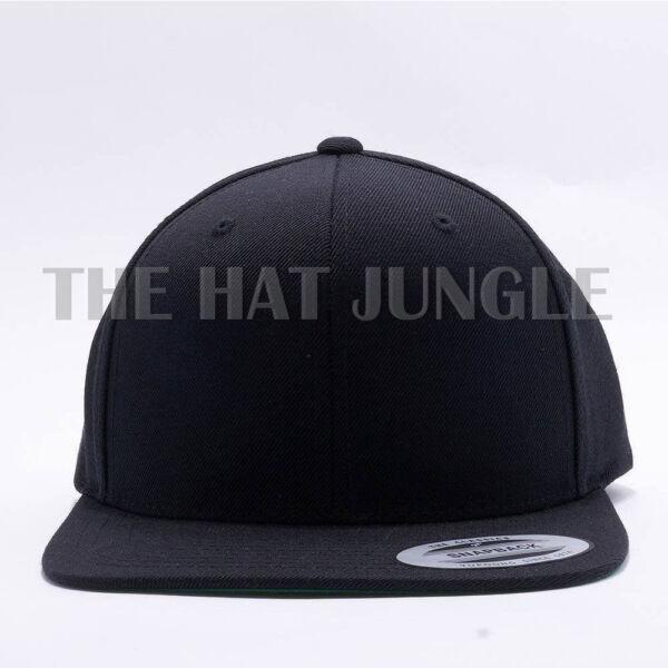 49c9d964c Yupoong Snapback Hat Plain 6089M Premium Classic Flexfit Baseball Cap Wool  Black