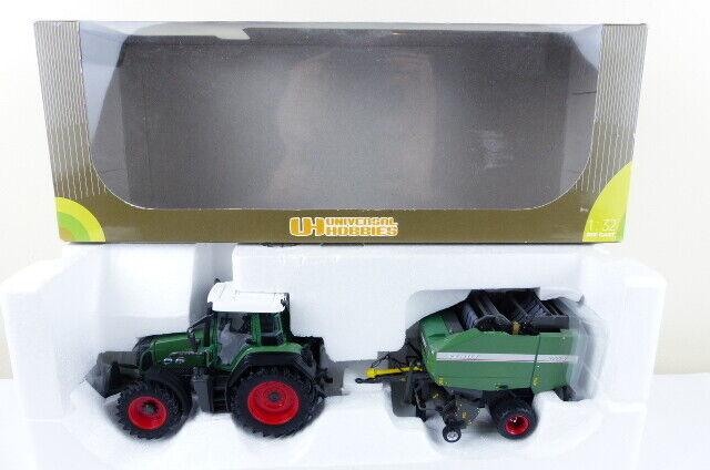 Universal Hobbies No 7094F Fendt 818 tractor and Fendt 2900 R Baler VNMB