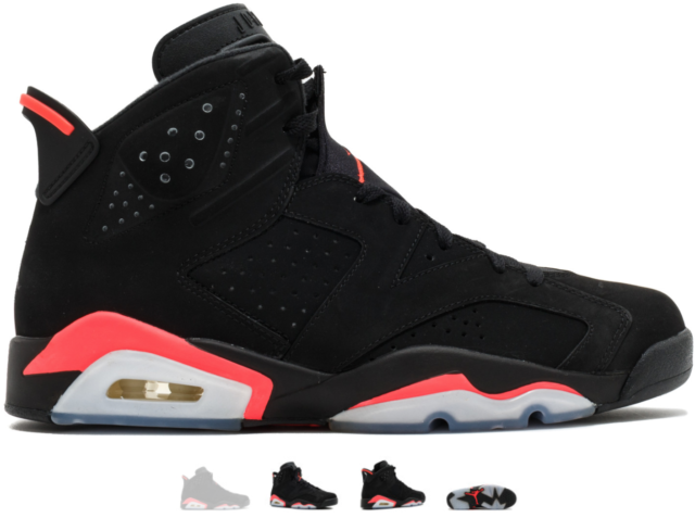 Nike Air Jordan Retro 6 VI BLACK INFRARED 384664-023 AUTHENTIC