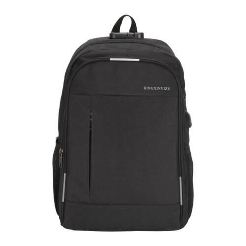 Black Anti-Theft Backpack Travel Laptop Bag Rucksack Bags With USB Charger Port