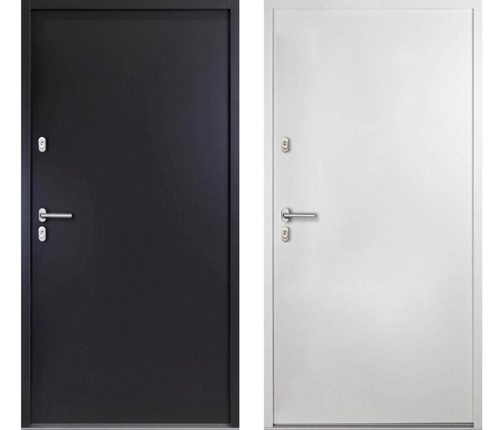 Aluminium KELLERTÜR weiß / anthrazitgrau | Haustür Nebeneingangstür Wohnungstür