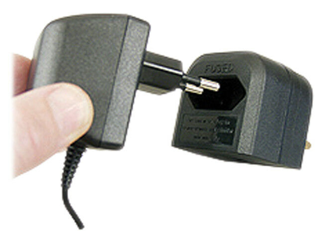 Eagle Eagle Eagle 3 A fusible Euro Converter Plug 2 Pole Euro Plug to 3 Pin UK Plug-Noir 87758d