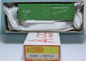 HO-Gauge-Accurail-80883-Columbus-amp-Greenville-40-039-AAR-Steel-Box-Car-Kit-53705