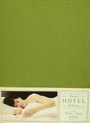 """Letto Matrimoniale Lenzuolo Verde Muschio 10 """"deep 400 Thread Count 100% Cotone Lusso-mostra Il Titolo Originale"""