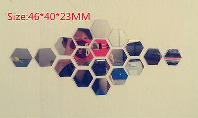 Removable 10pcs Mirror Acrylic Wall Sticker DIY Art Vinyl Decal Home Decor