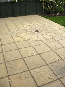 Image Is Loading 40m2 Concrete Garden Patio Paving Slabs Bundle Deal