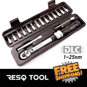 "8.9-221 Inch-lb Reversible Drive Gauge DLC Diamond Torque Wrench 1//4/"" 1-25Nm"