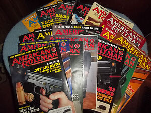 LOT-OF-18-AMERICAN-RIFLEMAN-MAGAZINES-1994-1997-IN-VERY-GOOD-READ-CONDITION