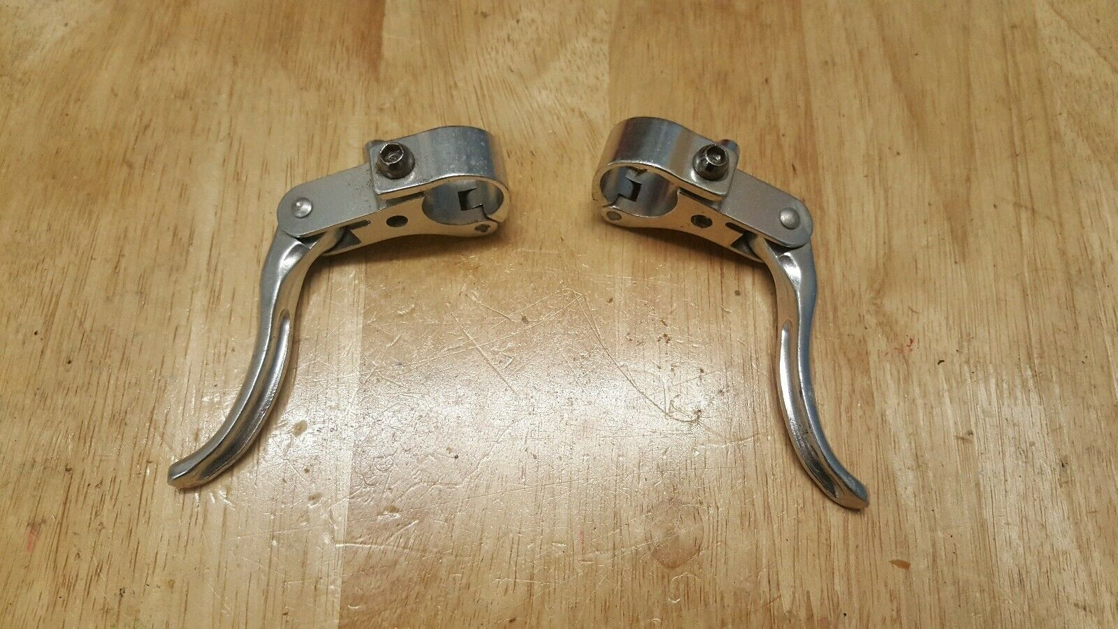 Vintage Bicycle, A Pair Of Alloy Brake Lever