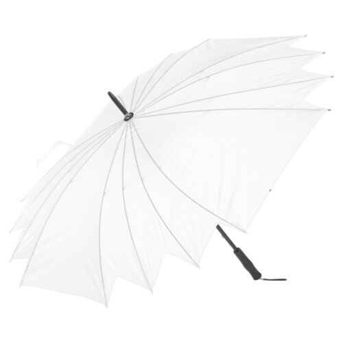 White Waterproof Wedding Bride Bridesmaid Umbrella Large Handle Bridal Rain NEW