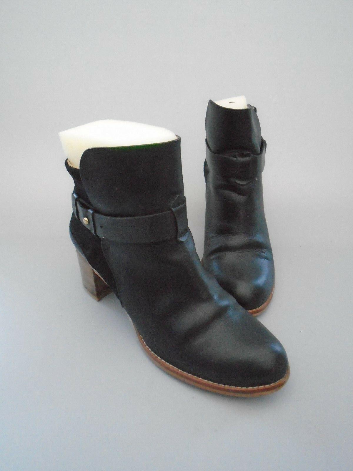 damen damen damen Größe 4 HOBBS OTTO schwarz LEATHER & SUEDE ANKLE Stiefel 117509