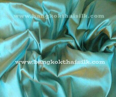 BLUE w GOLD BROWN 100% AUTH SILK TAFFETA FABRIC for DRESS SKIRT DRAPE