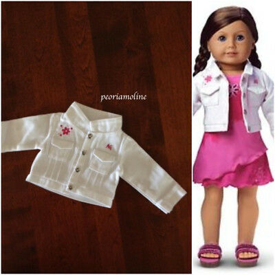 NWOB American Girl of Today Licorice Best Friend white jean jacket