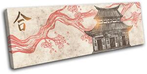 Buddhist-Temple-Illustration-Religion-SINGLE-CANVAS-WALL-ART-Picture-Print