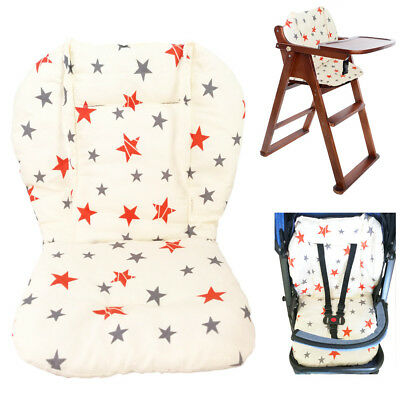 Sporting Baby Stroller/high Chair Seat Cushion Cover Breathable (star)