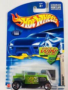 2002 Hot Wheels #108 Hot Rod Magazine Series 2//4 HOOLIGAN Green w//5 Spoke Wheels