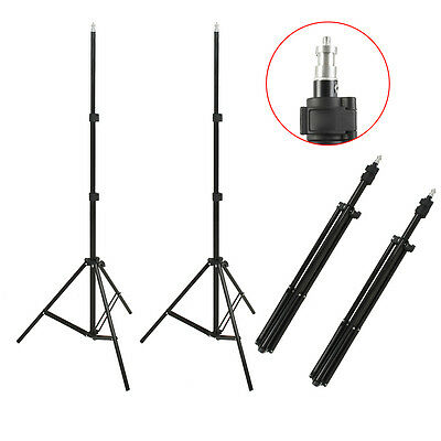 2x 2.1M Photo Studio Light Stand Tripod Lighting Kit For Umbrella Flash Lighting