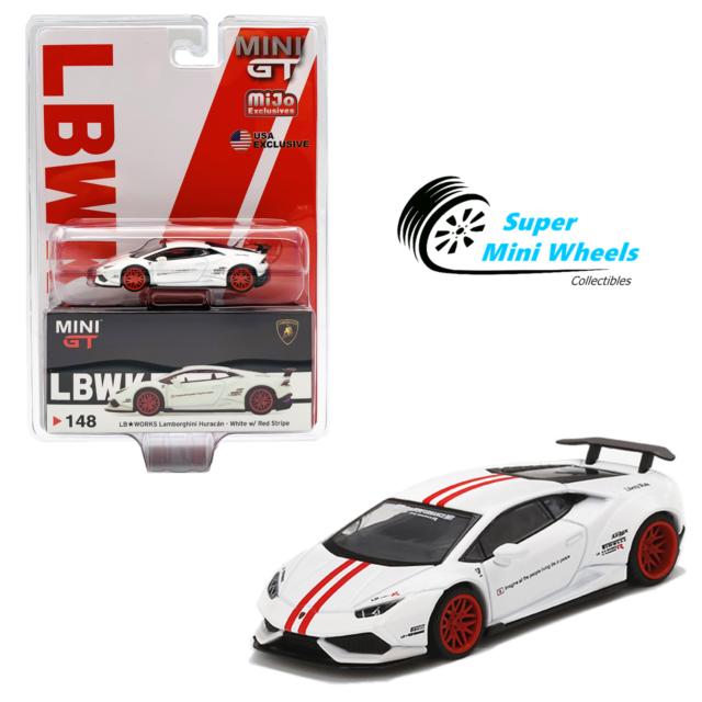 2020 MINI GT LB WORKS LAMBORGHINI HURACAN WHITE RED TSM MODEL MIJO EXCLUSIVE 148