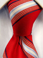 Men's Michael Kors Red Blue Silk Tie A23223